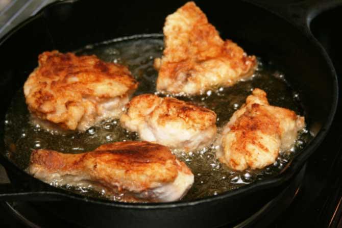 при жарке в куриной шкурке образуются канцерогены