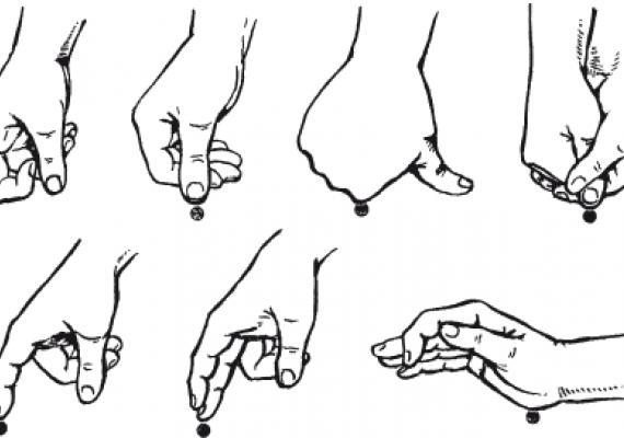 Точечный массаж, приемы точечного массажа