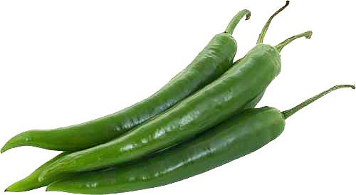 Зеленый острый перец, аскорбиновая кислота