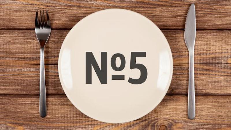 5 стол (диета) - рецепты блюд