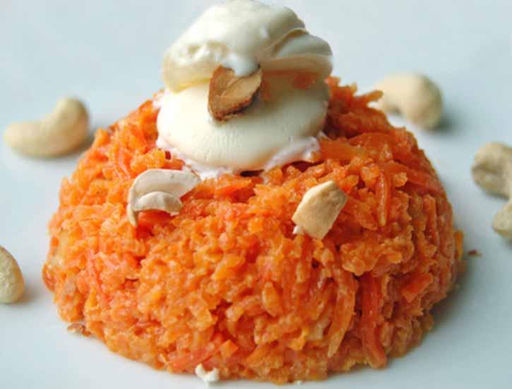 Морковный фруктовый пудинг