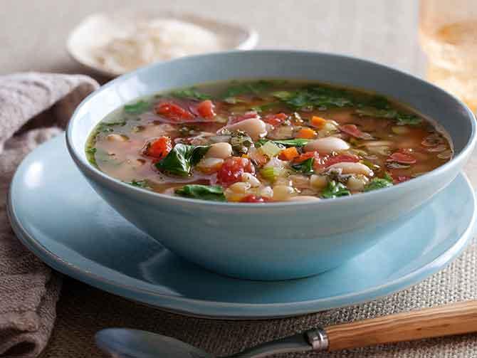 Суп из сборных овощей вегетарианский